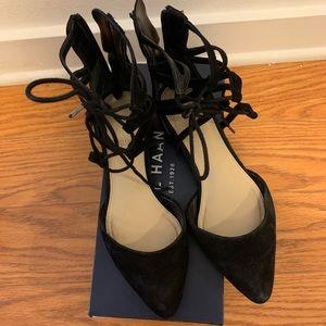 Via Spiga Strappy Flat Sandal in Black | Size 5.5